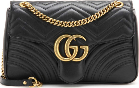 Gucci GG Marmont Medium matelassé leather shoulder bag