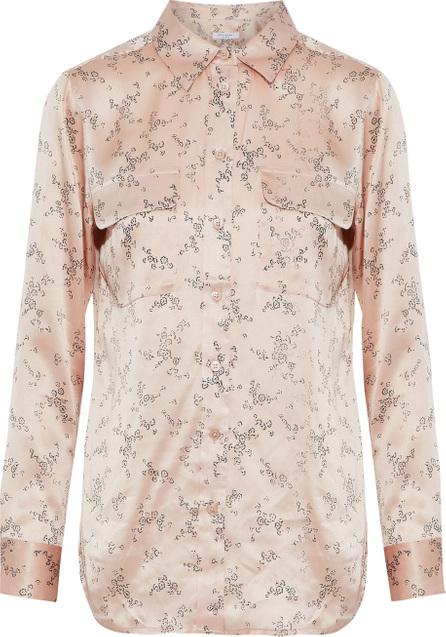 Equipment Floral-print silk-satin shirt