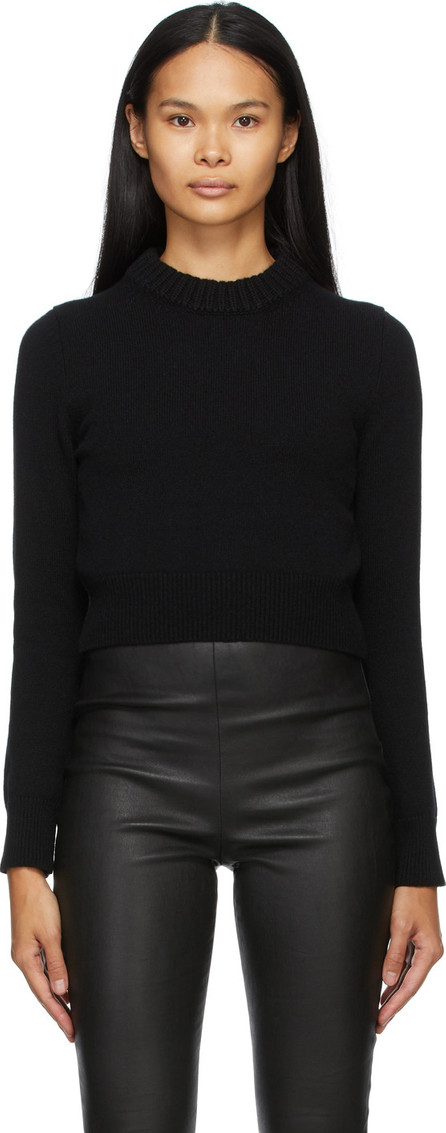 Alexander McQueen Black Cashmere Cropped Sweater