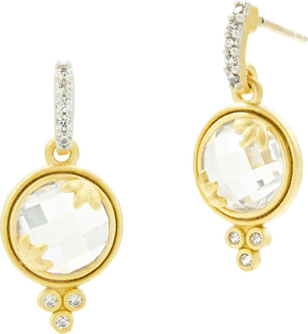 Freida Rothman 14k Fleur Bloom Cubic Zirconia Mini Drop Earrings