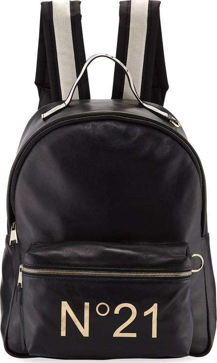 Nº21 Tall Leather Logo Backpack