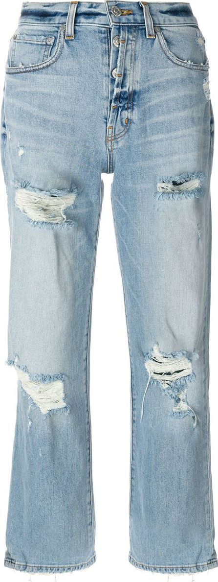 Adaptation distressed relaxed fit cropped jeans