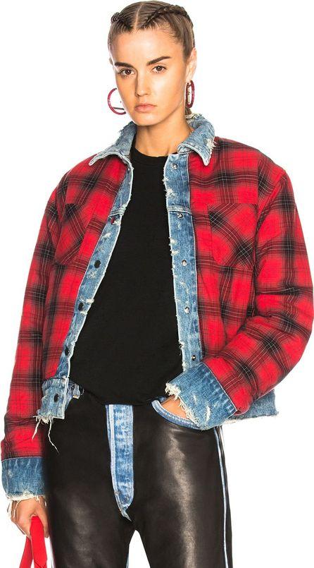 Amiri Reversible Trucker Flannel Jacket