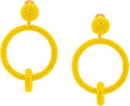 Oscar De La Renta Marigold beaded ring earrings
