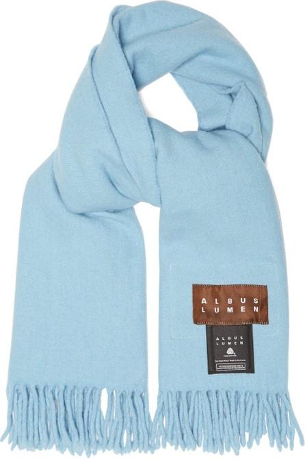 Albus Lumen Fringed merino-wool scarf