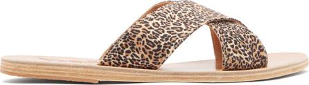 Ancient Greek Sandals Thais satin slides