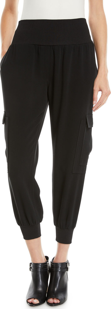 Cinq A Sept Giles Crepe Pull-On Jogger Pants