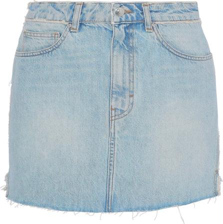 IRO Frayed denim mini skirt