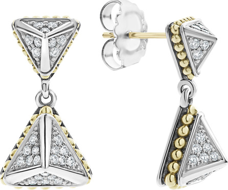 LAGOS KSL Luxe Diamond Pyramid Drop Earrings w/ 18k Gold