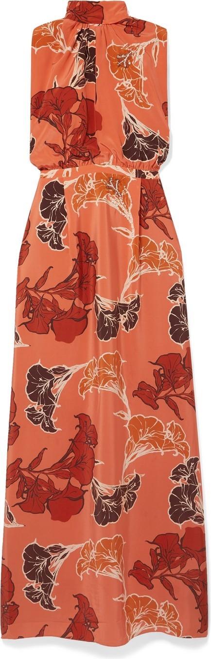Johanna Ortiz Momentum embellished floral-print silk crepe de chine maxi dress