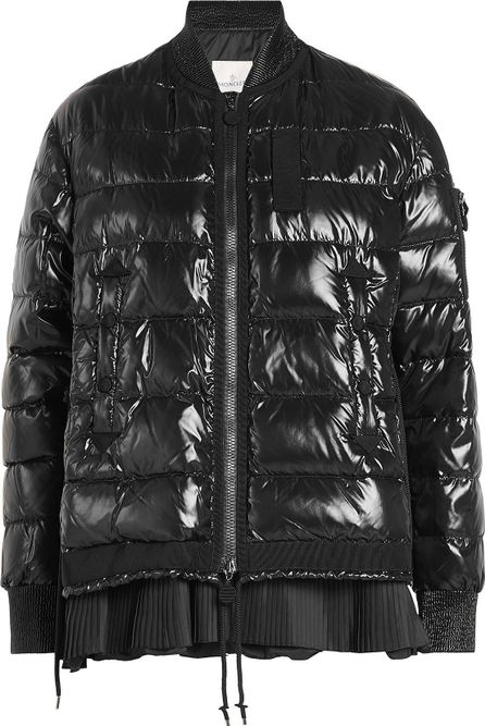 Moncler Down Jacket with Pleated Hem