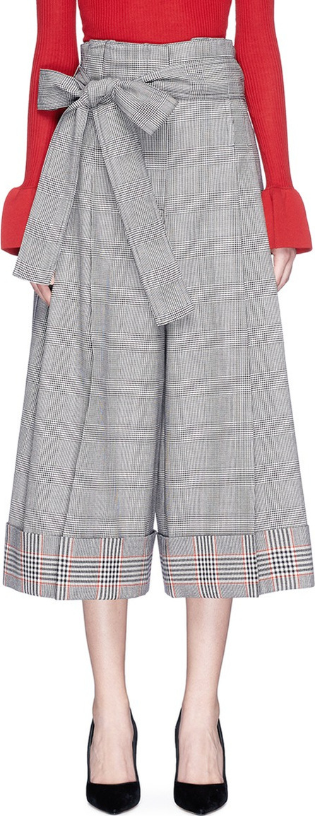 Alexander McQueen Belted houndstooth culottes