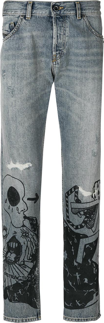 Diesel Black Gold Printed denim jeans