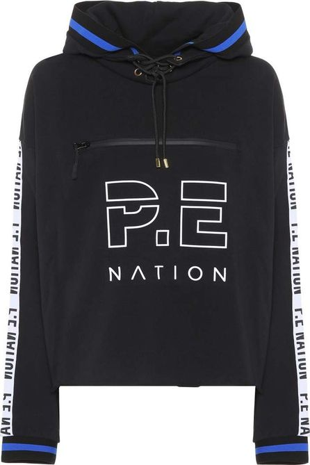 P.E Nation Blind Pass printed cotton hoodie