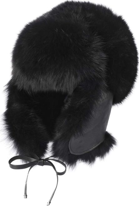 Moncler Fur and leather trapper hat