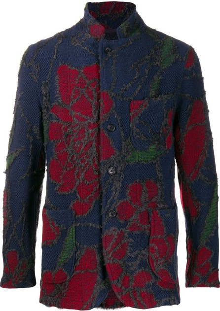Engineered Garments Textured floral patterned blazer