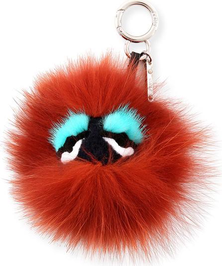 Fendi Blueminous Mini Bag Bugs Charm for Handbag, Black/Bordeaux/Blue