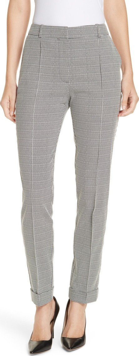 BOSS Hugo Boss Acrila Check Jacquard Straight Leg Trousers