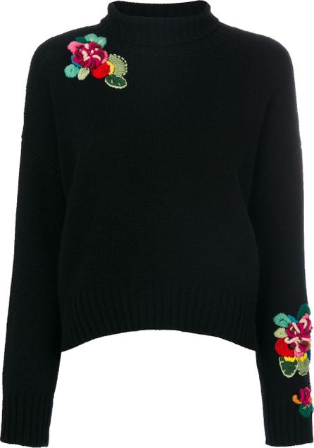 Ermanno Scervino embroidered roll-neck jumper
