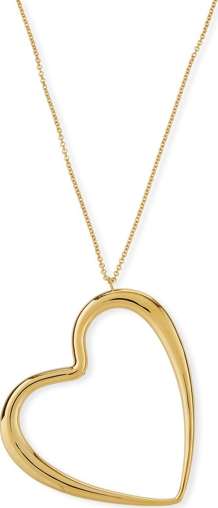 Alberto Milani 18k Graduated Oversize Heart Pendant Necklace
