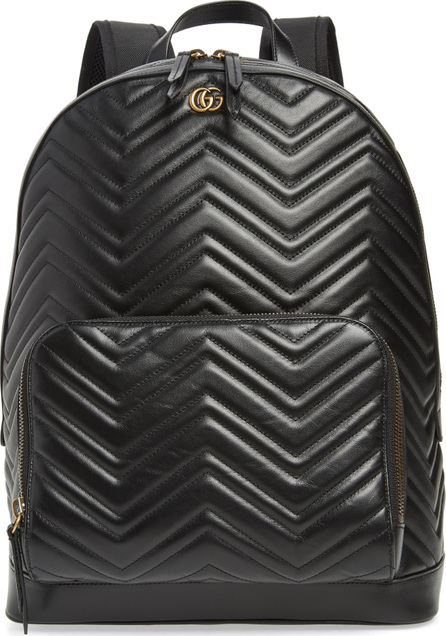 Gucci Marmont Chevron Leather Backpack
