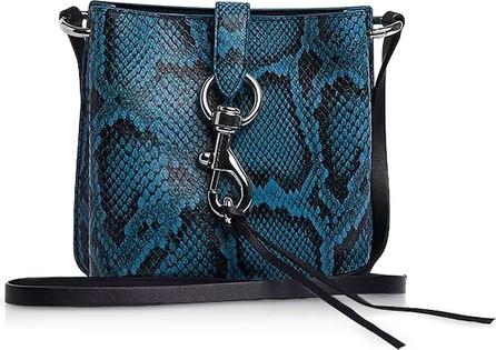 Rebecca Minkoff Megan Mini Cement Blue Leather Feed Bag