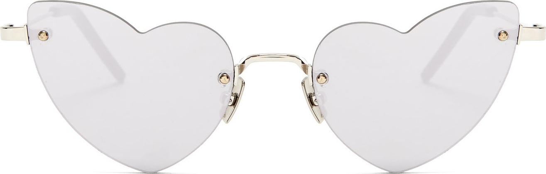 Saint Laurent - Loulou heart-shaped metal sunglasses