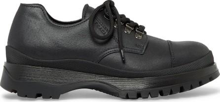 Prada Cap-Toe Leather Derby Shoes