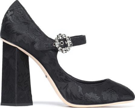 Dolce & Gabbana Crystal-embellished jacquard Mary Jane pumps