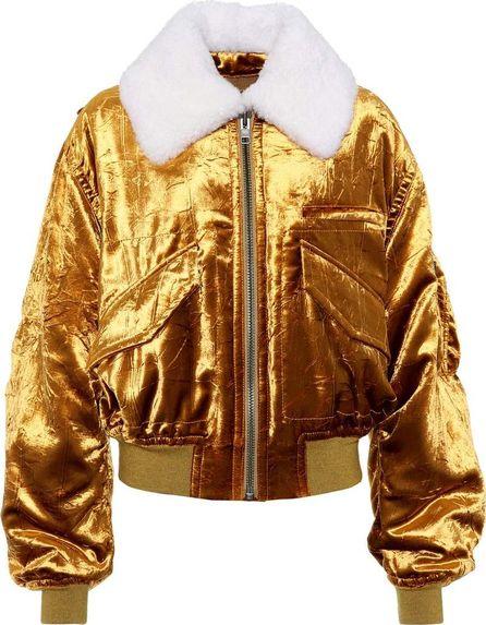 Haider Ackermann Velvet and shearling bomber jacket
