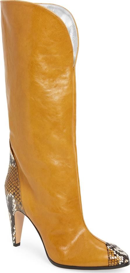 Givenchy Kangaroo Leather & Genuine Python Boot