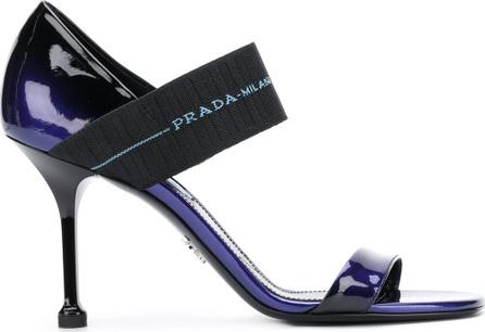 Prada Gradient logo strap sandals