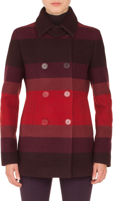 Akris Punto Multicolor Stripe Double Breasted Jacket