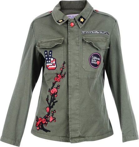 History Repeats Military Green Embroidered Jacket