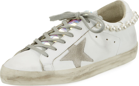 Golden Goose Deluxe Brand Superstar Pearly Necklace Sneakers
