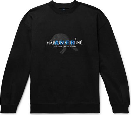 Maison Kitsune + ADER error Oversized Logo-Detailed Cotton-Blend Jersey Sweatshirt