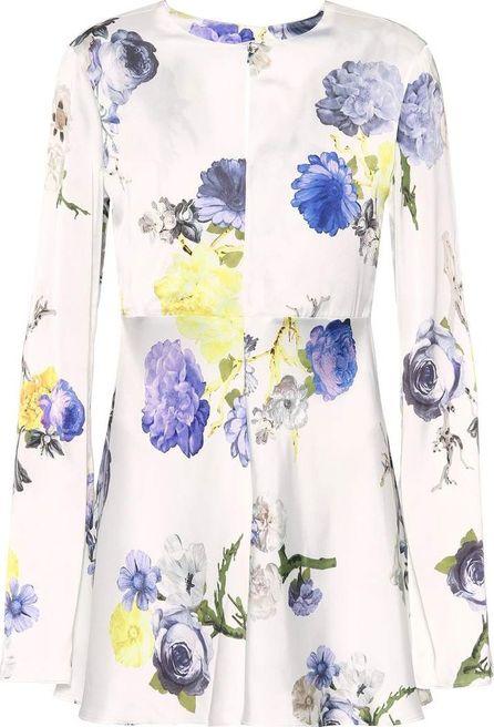 Acne Studios Bahari floral-printed satin top