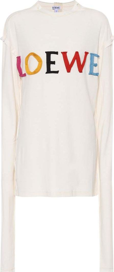 LOEWE Oversized silk and cotton top