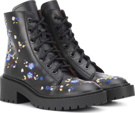 KENZO Pike embroidered leather boots
