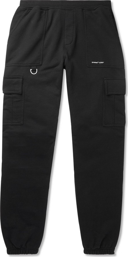 Off White Logo-Print Cotton-Jersey Cargo Sweatpants