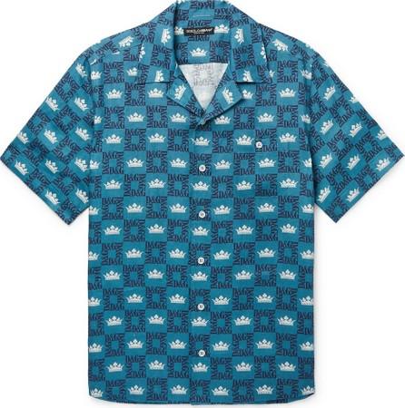 Dolce & Gabbana Camp-Collar Printed Linen Shirt