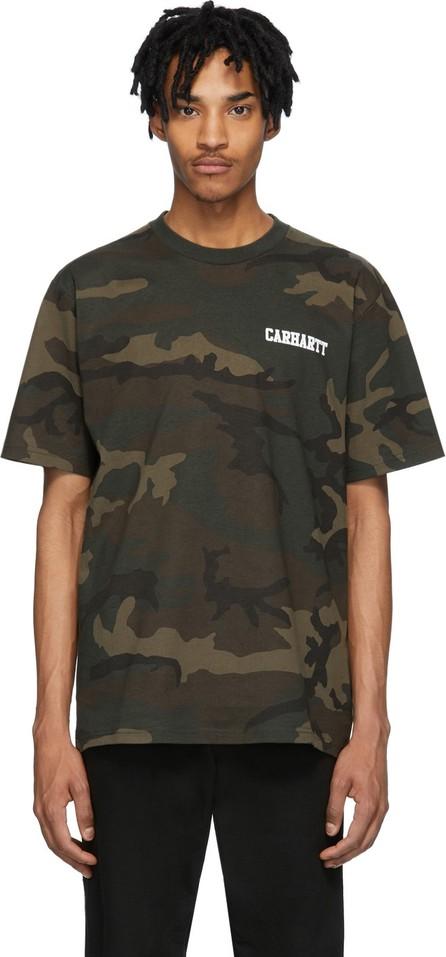 Carhartt Work In Progress Multicolor Camo College Script T-Shirt
