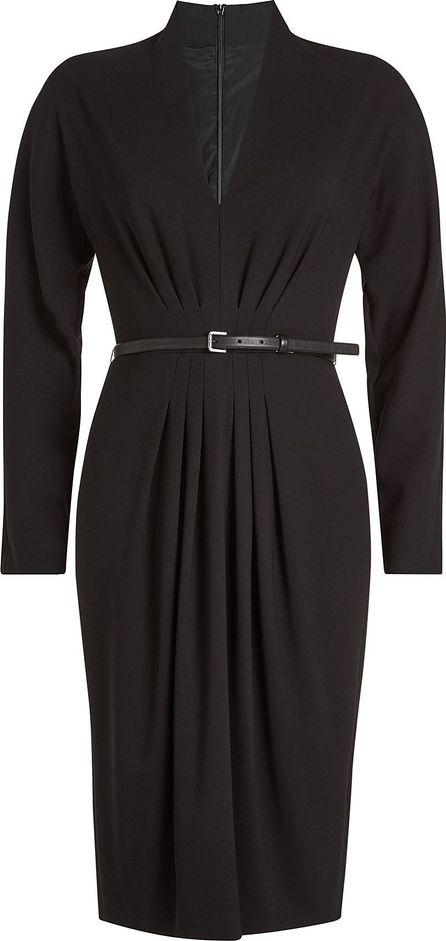 Max Mara Virgin Wool Dress with Leather Belt