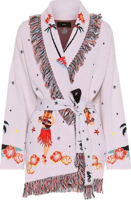 Alanui Jacquard wool-blend cardigan