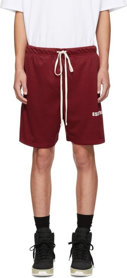 Essentials Red Mesh Logo Shorts