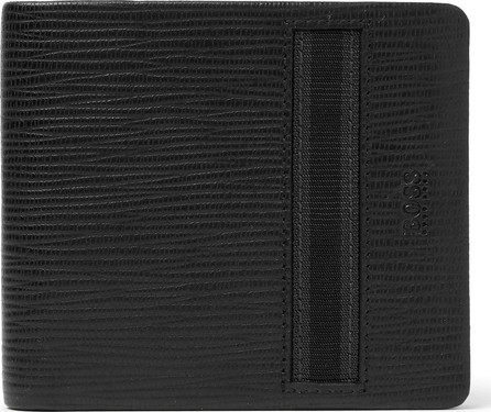 HUGO BOSS Timeless Cross-Grain Leather Billfold Wallet