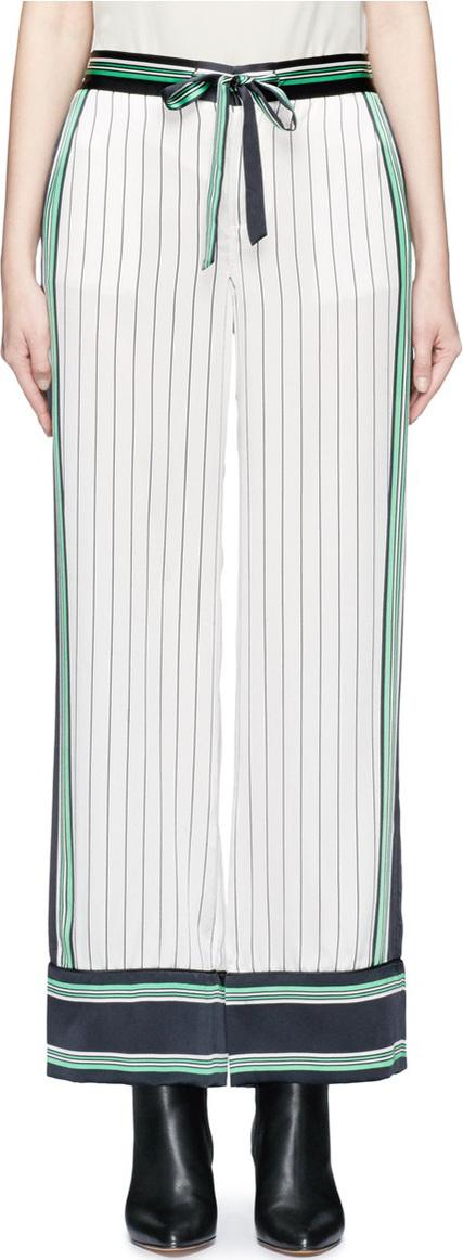 Equipment x Kate Moss 'Lake' stripe print silk pyjama pants