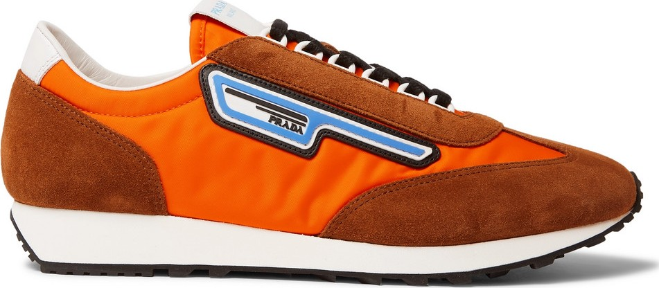 186ad09c236d Prada Milano 70 Nylon and Suede Sneakers - Mkt