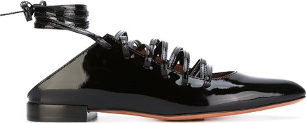Givenchy lace-up ballerinas