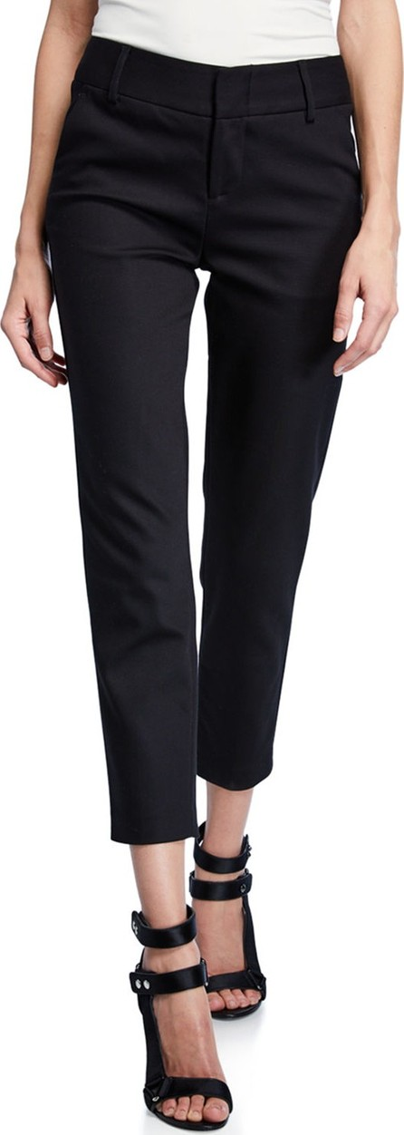 Alice + Olivia Stacey Slim Straight-Leg Cropped Trousers